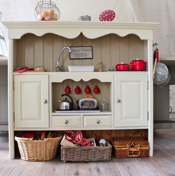 Dresser Top Kitchen. Check out the tutorial