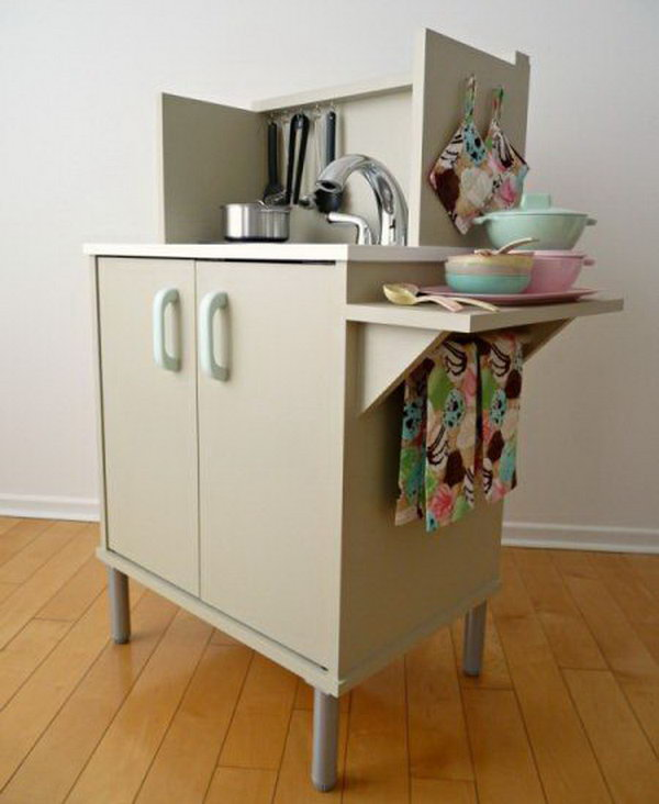 Microwave Stand Play Kitchen. Check out the tutorial