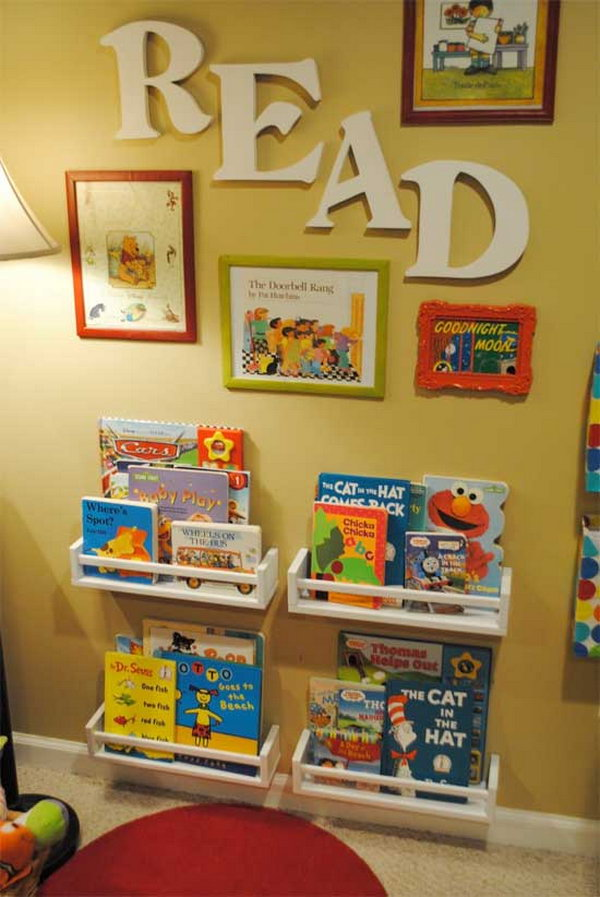 Book Nook with Spice Rack as Book Shelves