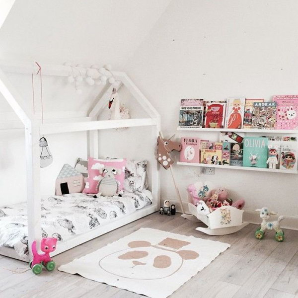 White Reading Corner For Kids