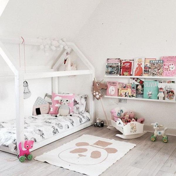 White Reading Corner For Kids
