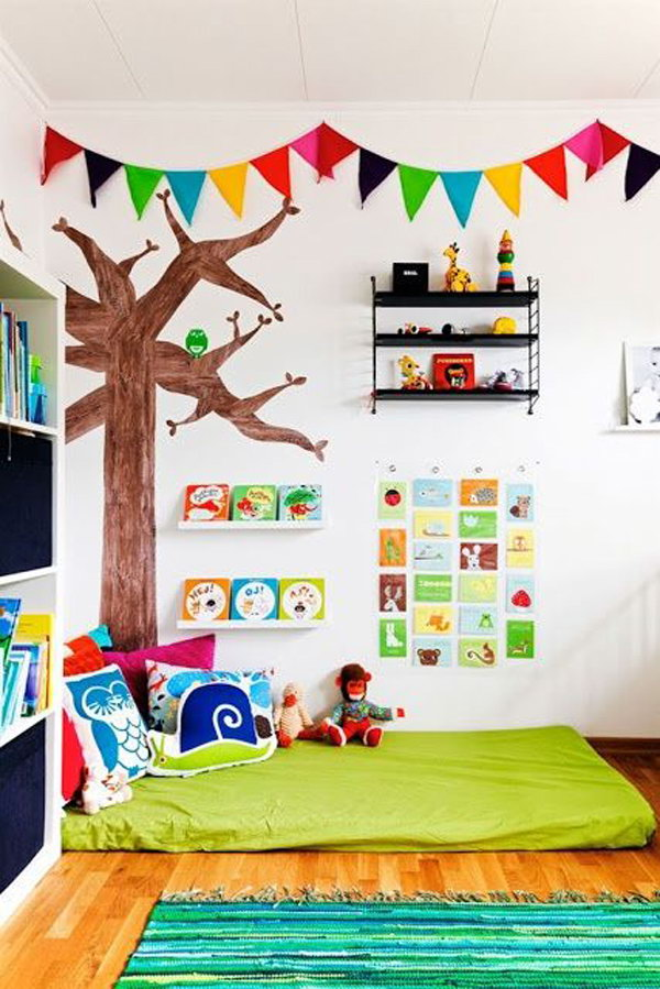 Colorful Kids Reading Corner