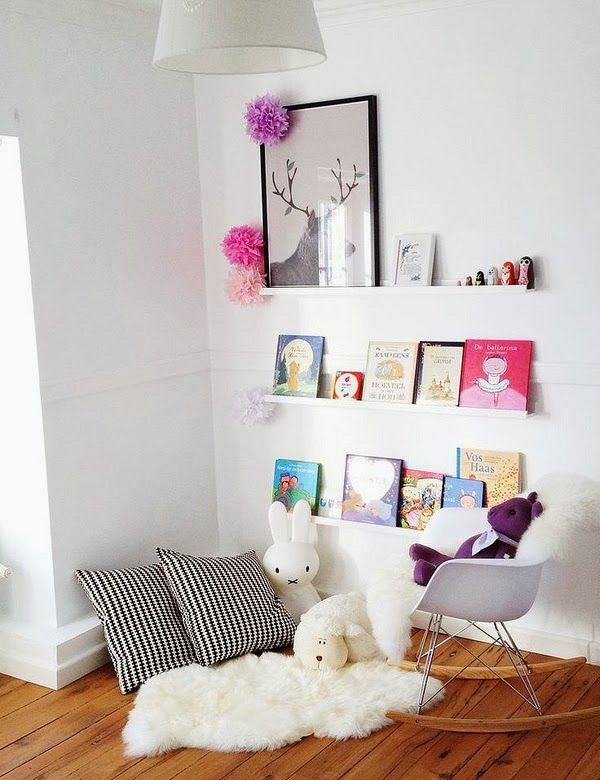 Pretty Kids Reading Corner