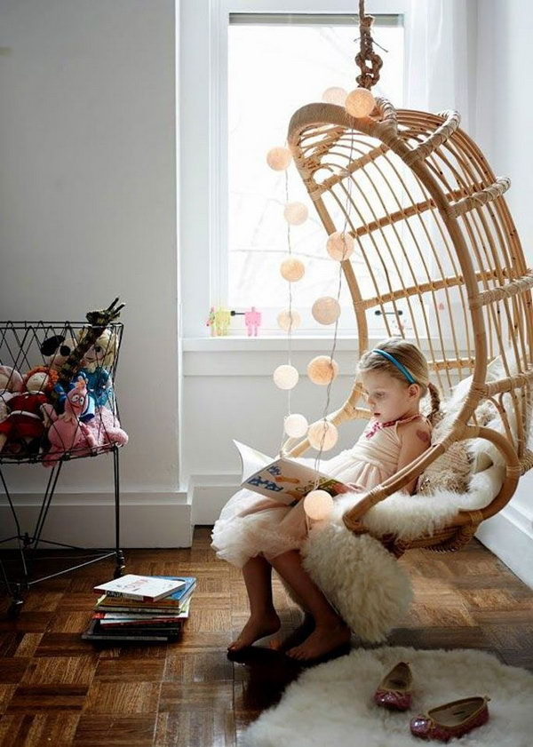 Hanging Chair for a Reading Nook
