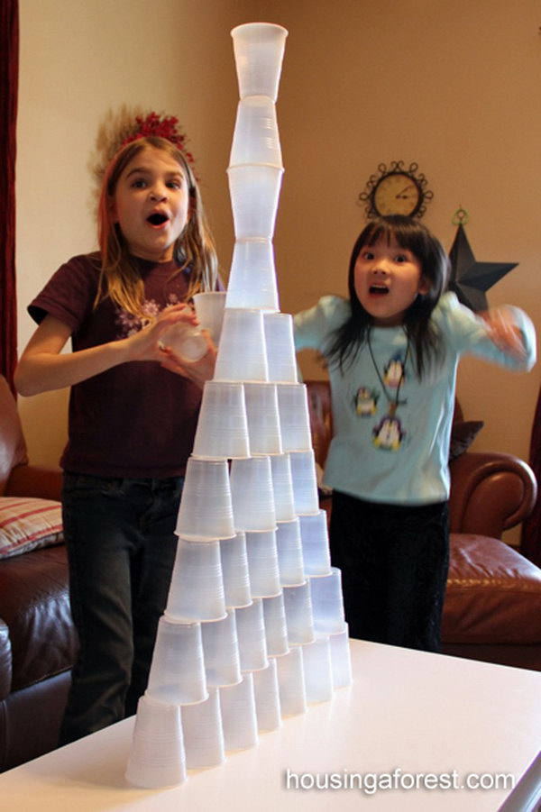 Cup Stacking Game for Kids.