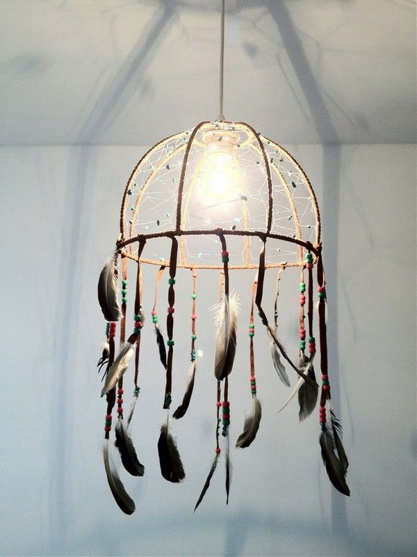 DIY Dream Catcher Lamp
