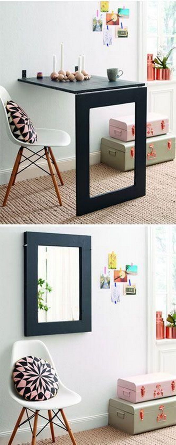 DIY Mirror Folding Table