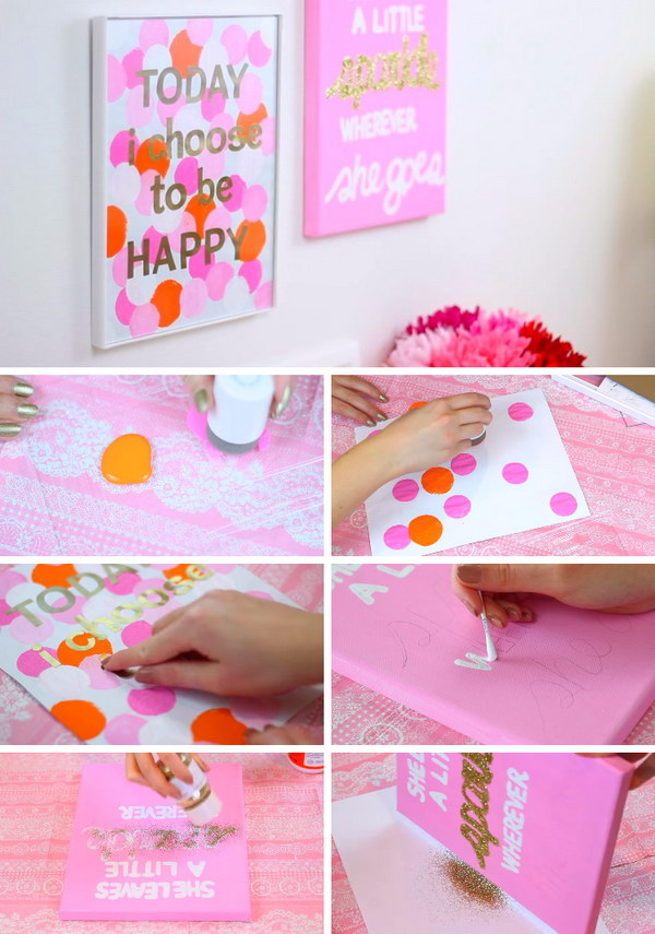 DIY Today I Choose To Be Happy Easy & Simple Wall Canvas.