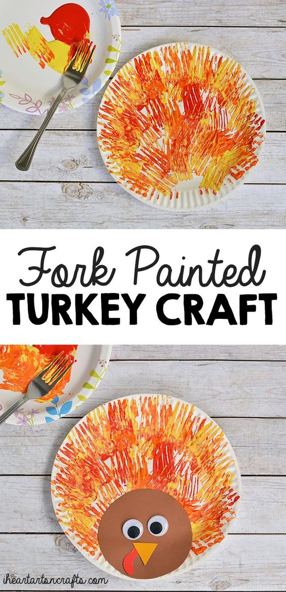 Make an Easy Turkey by Using a Fork.