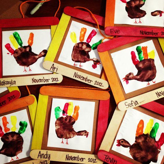 Turkey Handprint Picture Frames.