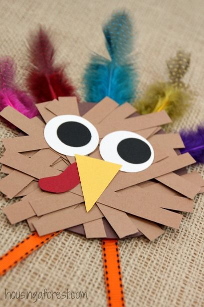 Paper Strip Turkey Craft.
