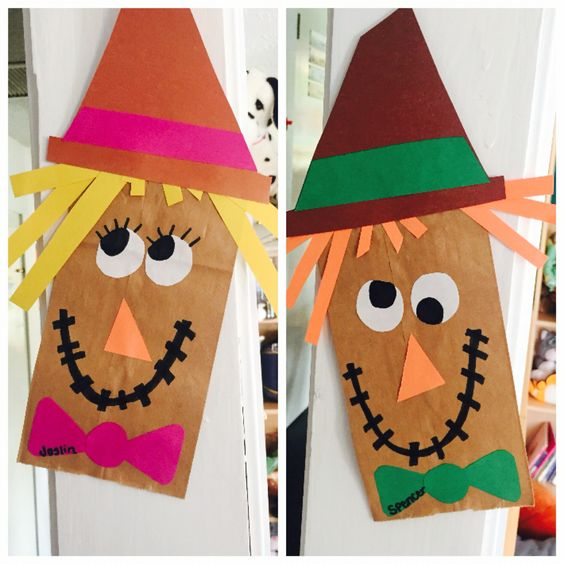 Easy Paperbag Scarecrow Craft.