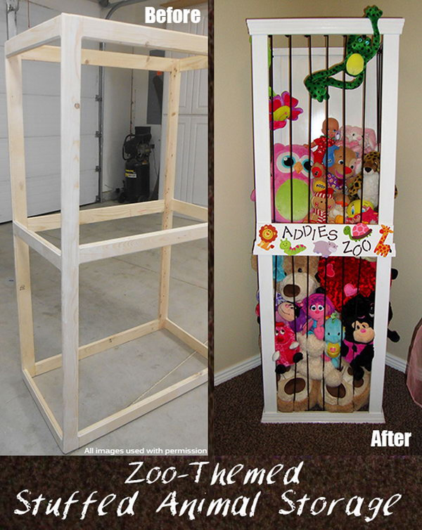 Stuffed Animal Zoo Storage