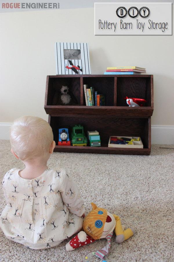 DIY Pottery Barn Toy Storage