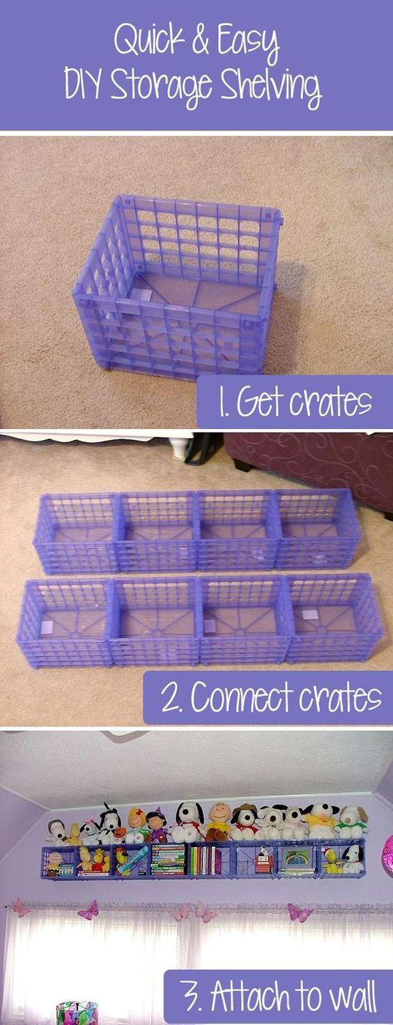 DIY Crate Toy Storage