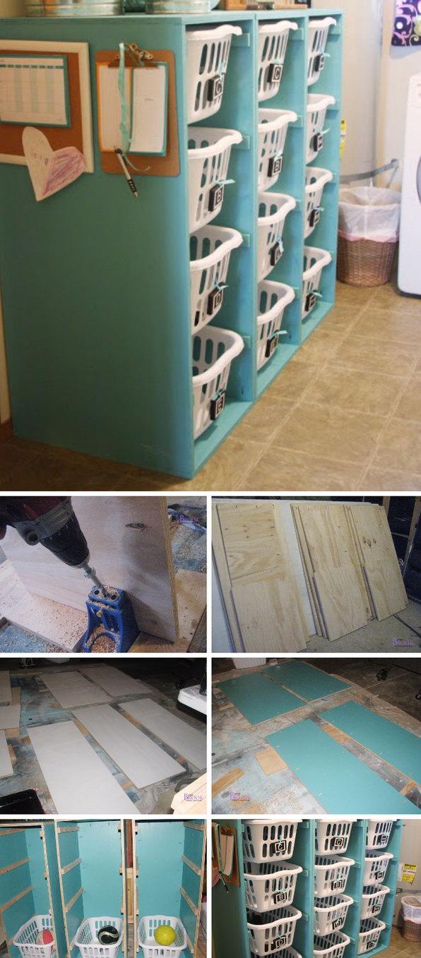 DIY Laundry Basket Dresser for Toy Storage