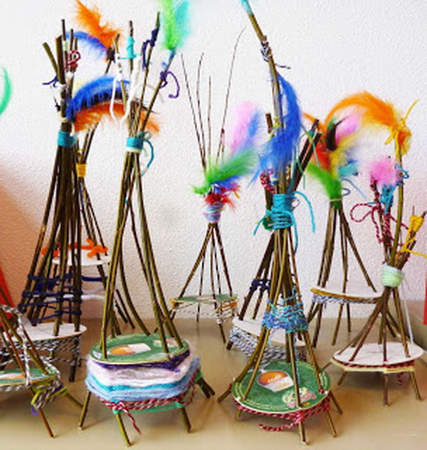 Natural crafts tutorials great twig crafts for kids for Pinterest art ideas for adults