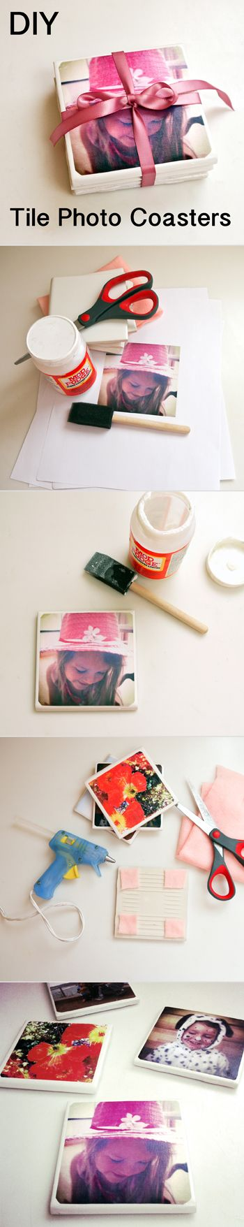 The Perfect Personalized Gift: DIY Tile Photo Coasters.