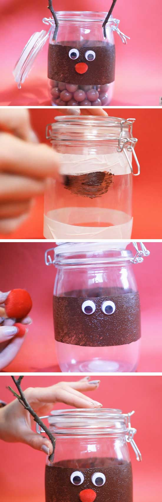 Reindeer Treat Jar.