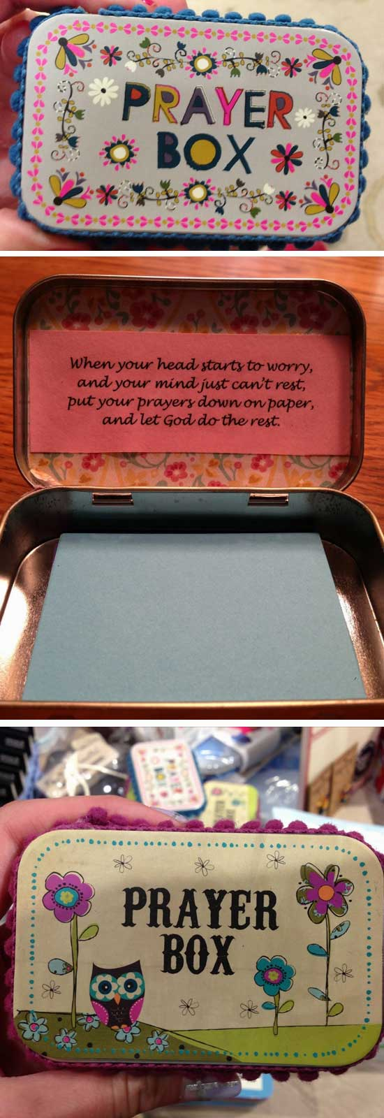 Altoid Tin Prayer Boxes.