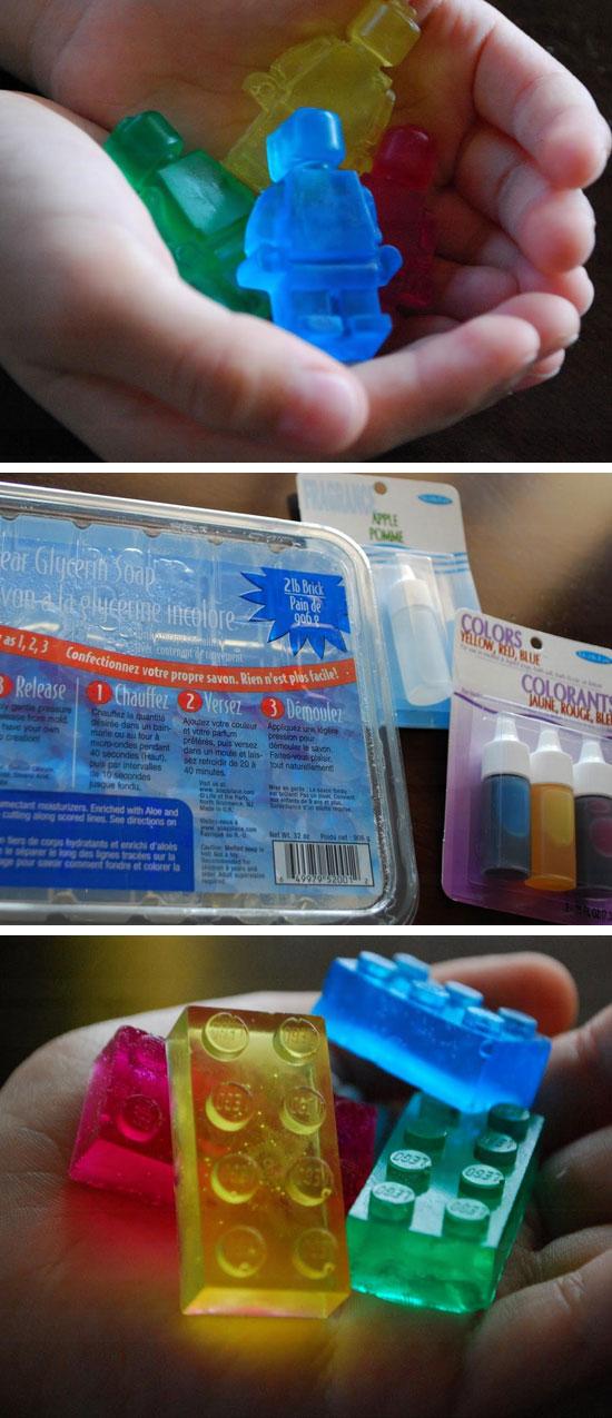 Lego Glycerin Soap.