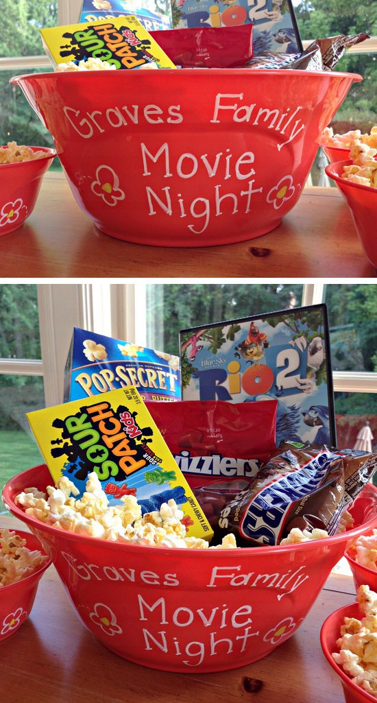 Movie Night Bucket.