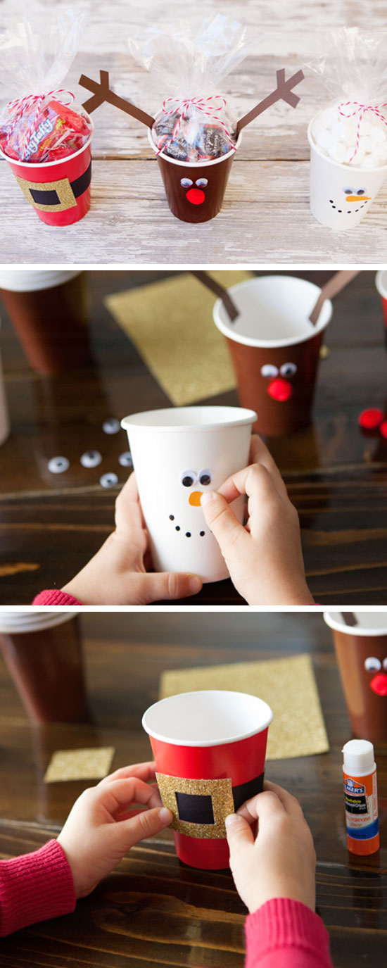 Simple Christmas Treat Cups.