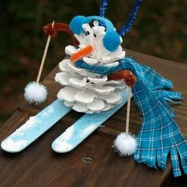 Pinecone Snowman.