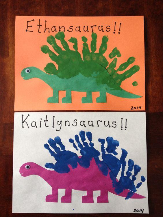Handprint Dinosaurs.