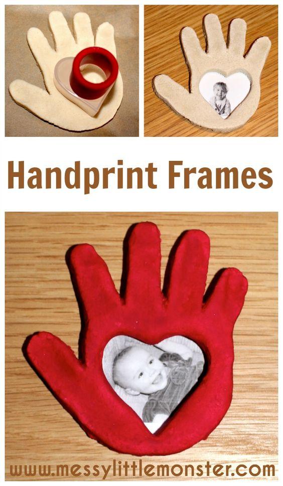 Salt Dough Craft Ideas For Kids Part - 44: Salt Dough Handprint Frame