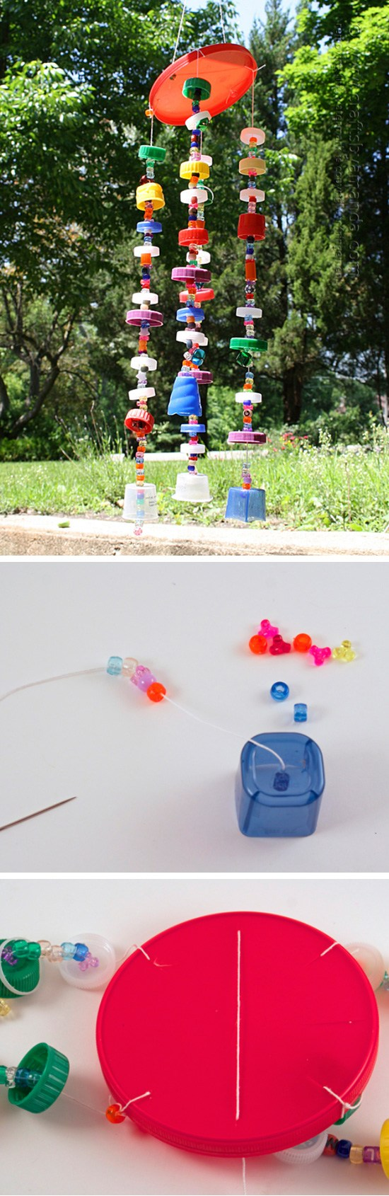 Recycled Plastic Lid Windchime.