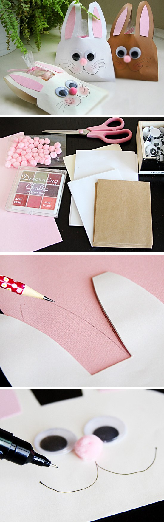 DIY Bunny Envelopes.