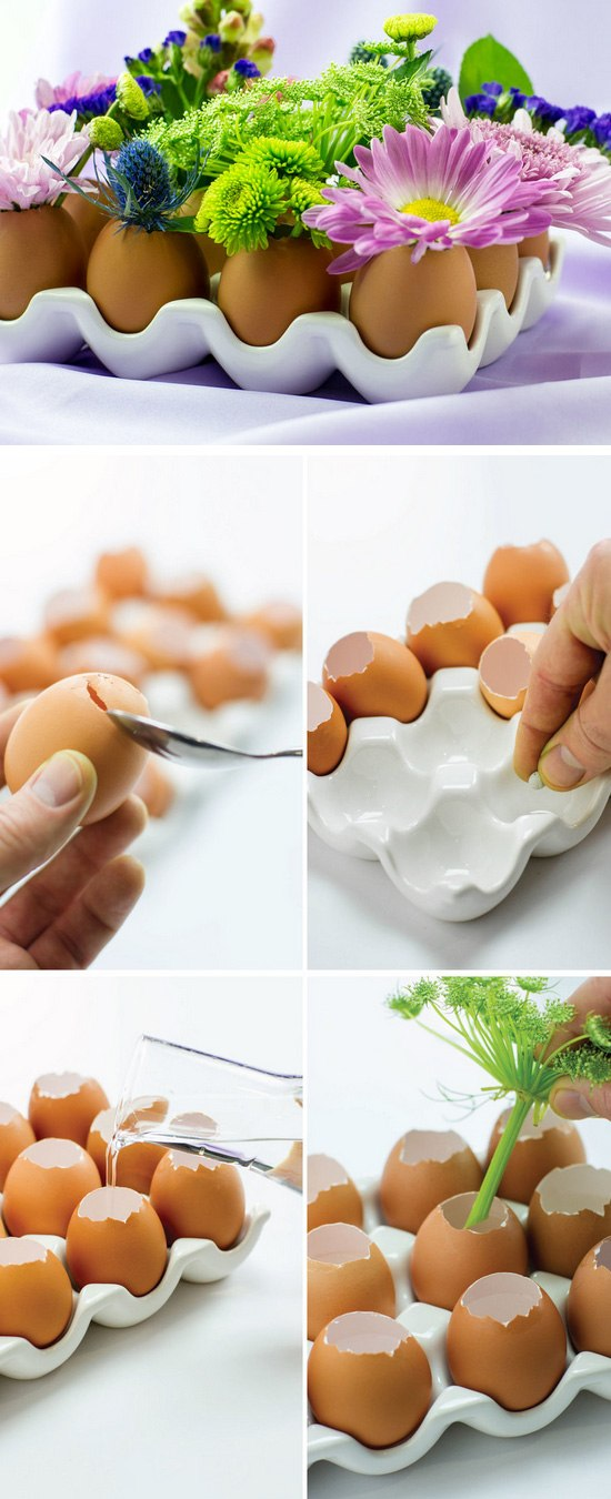 Mini Eggshell Vases.