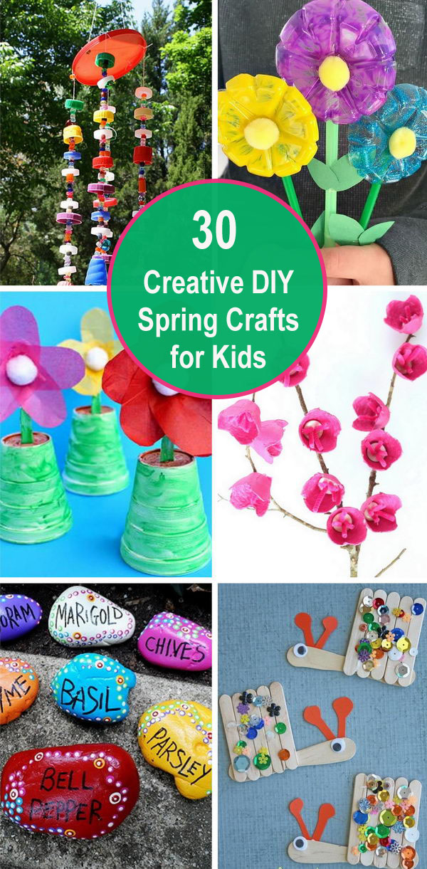 30+ Creative DIY Spring Crafts for Kids.