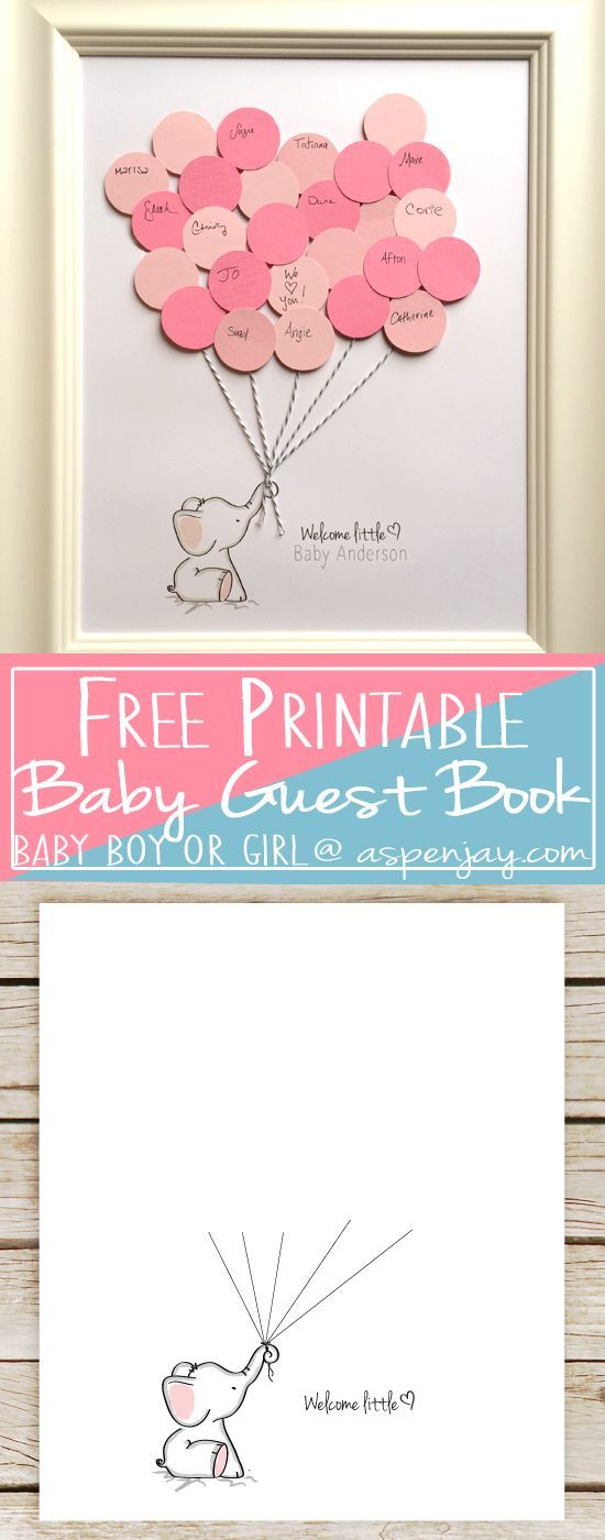 Elephant Baby Shower Guest Book.