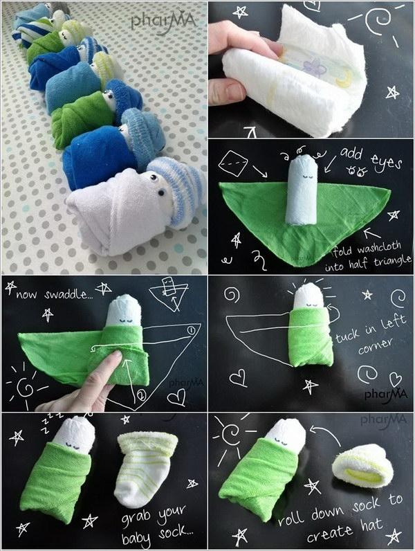 Diaper and Towel Babies.