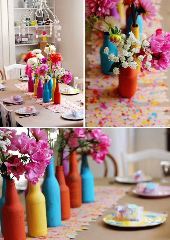 DIY Splatter Paint Popsicle Stick Runner