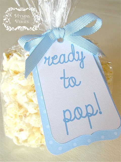 Ready to Pop Popcorn Favors for Baby Boy Shower.