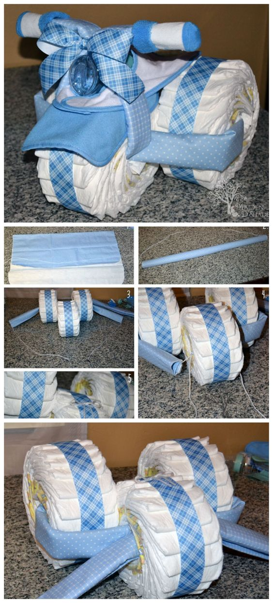diaper bike cake instructions