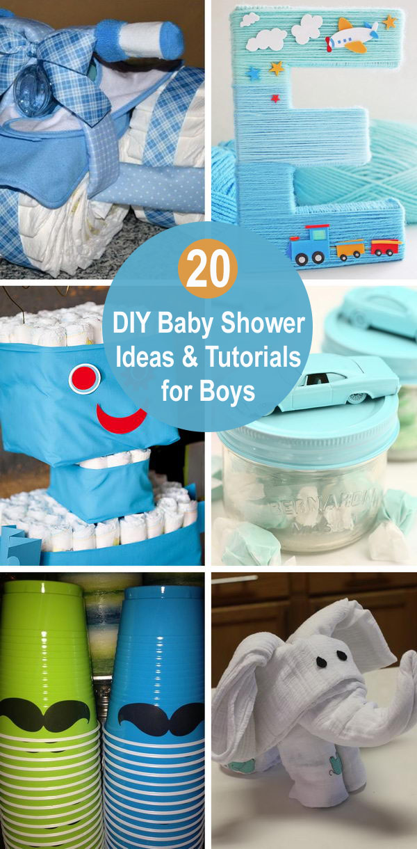20 DIY Baby Shower Ideas & Tutorials for Boys.