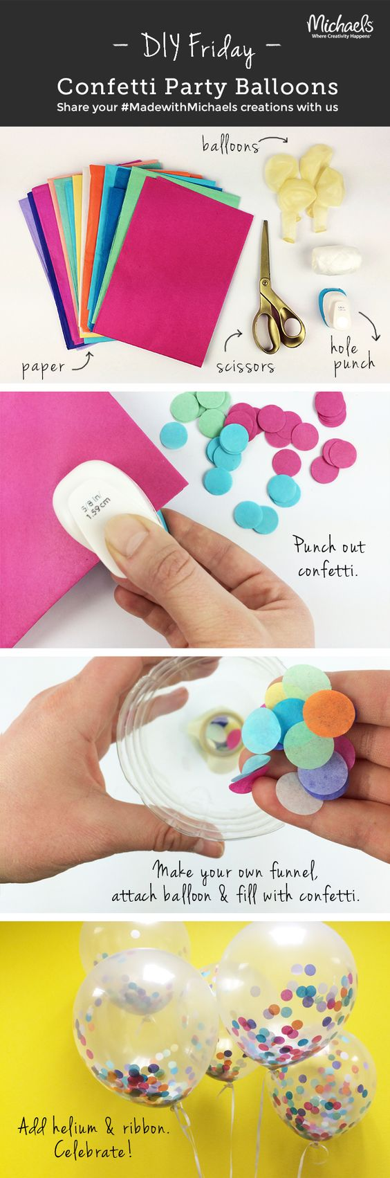 Add a Pop of Color to any Party with these Confetti Balloons.