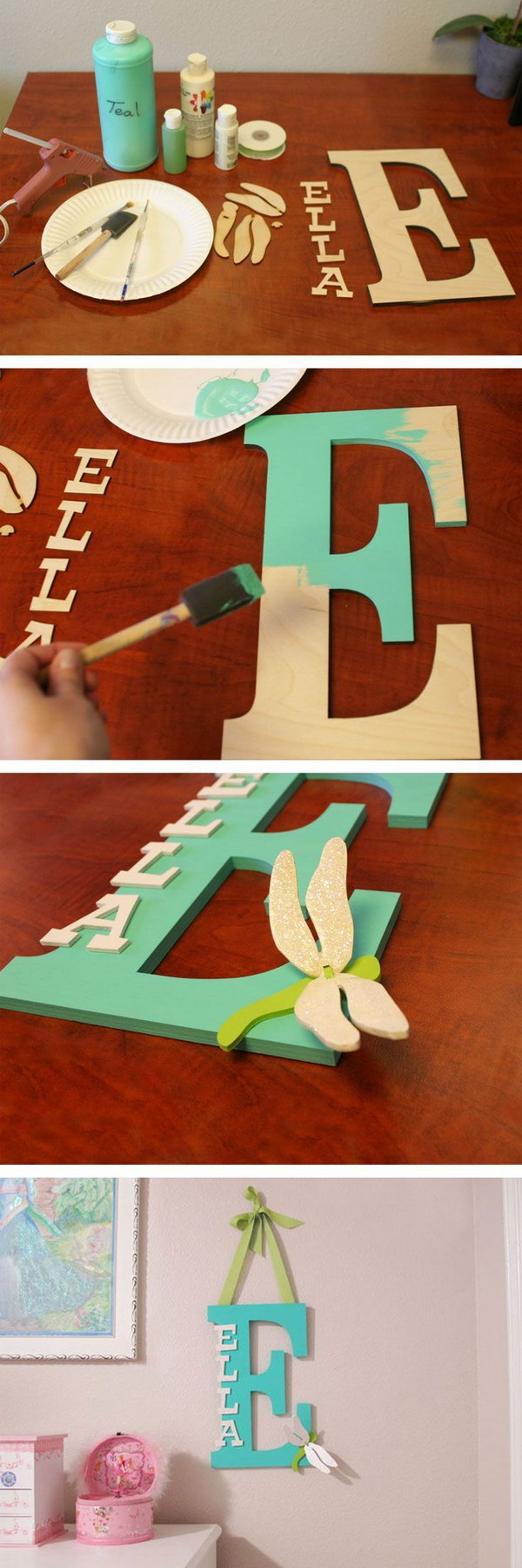 Painted Wooden Letter.