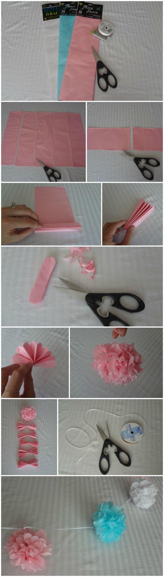 Tissue Pom Pom Garland.