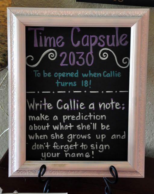 DIY Baby Time Capsule.