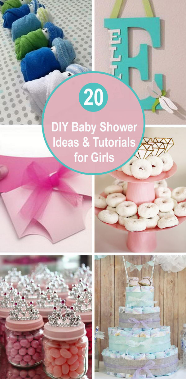 20 DIY Baby Shower Ideas & Tutorials for Girls.