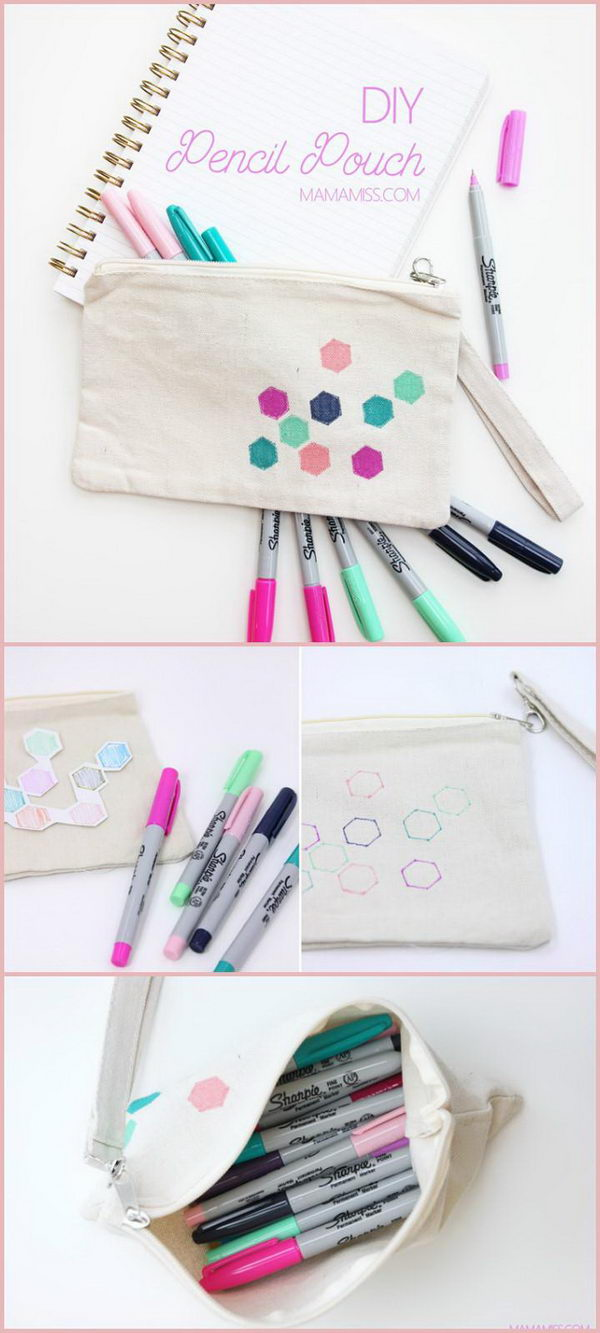 Easy Back to School Pencil Pouch.