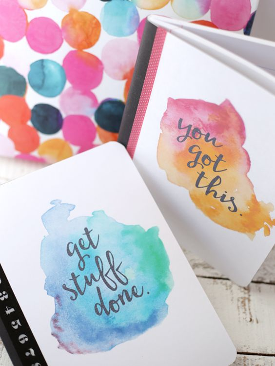 Free Printable Watercolor Notebook Covers.
