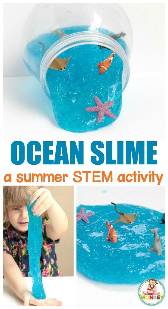 Sparkling Ocean Slime Recipe.