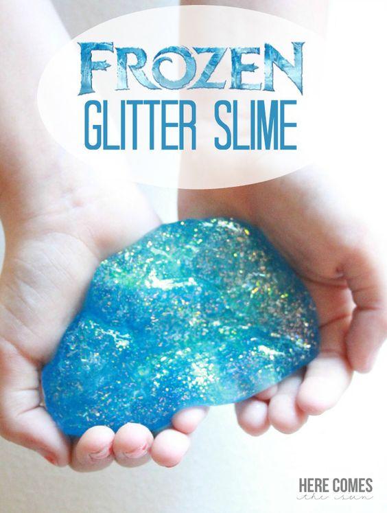 Frozen Glitter Slime.
