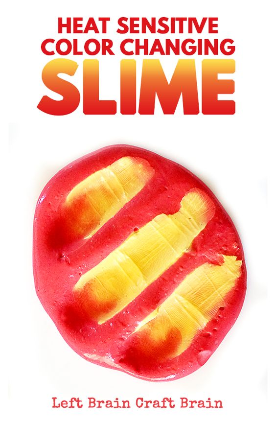 Heat Sensitive Color Changing Slime.